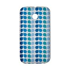 Blue Green Leaf Pattern Motorola Moto E