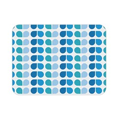 Blue Green Leaf Pattern Double Sided Flano Blanket (Mini)