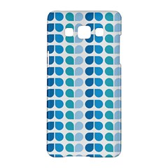 Blue Green Leaf Pattern Samsung Galaxy A5 Hardshell Case