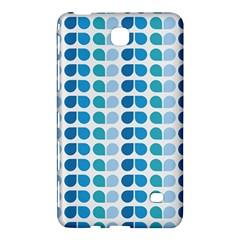 Blue Green Leaf Pattern Samsung Galaxy Tab 4 (8 ) Hardshell Case