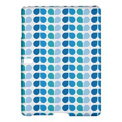 Blue Green Leaf Pattern Samsung Galaxy Tab S (10.5 ) Hardshell Case