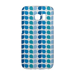 Blue Green Leaf Pattern Galaxy S6 Edge