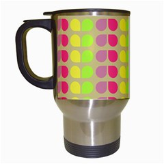Colorful Leaf Pattern Travel Mugs (white)
