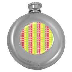 Colorful Leaf Pattern Round Hip Flask (5 Oz)