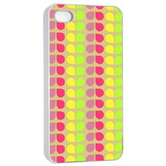 Colorful Leaf Pattern Apple Iphone 4/4s Seamless Case (white)