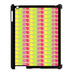 Colorful Leaf Pattern Apple Ipad 3/4 Case (black)
