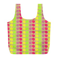 Colorful Leaf Pattern Full Print Recycle Bags (l)