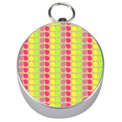 Colorful Leaf Pattern Silver Compasses