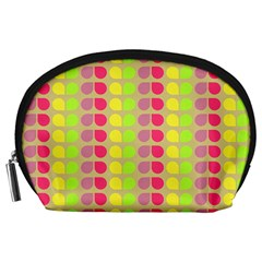 Colorful Leaf Pattern Accessory Pouches (large)