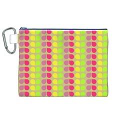 Colorful Leaf Pattern Canvas Cosmetic Bag (XL)