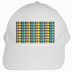 Colorful Leaf Pattern White Cap