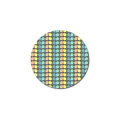 Colorful Leaf Pattern Golf Ball Marker (10 Pack)