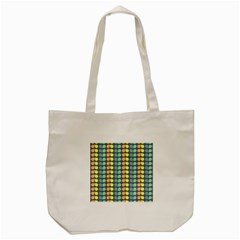 Colorful Leaf Pattern Tote Bag (Cream)