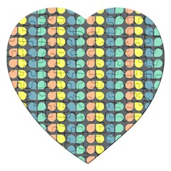 Colorful Leaf Pattern Jigsaw Puzzle (heart)