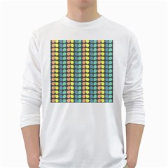 Colorful Leaf Pattern White Long Sleeve T-Shirts