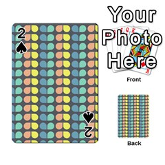 Colorful Leaf Pattern Playing Cards 54 Designs