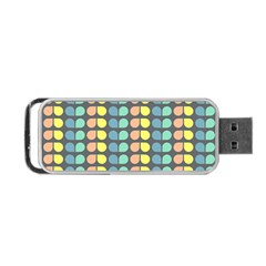 Colorful Leaf Pattern Portable USB Flash (One Side)