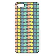 Colorful Leaf Pattern Apple Iphone 5 Seamless Case (black)