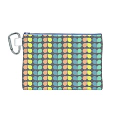 Colorful Leaf Pattern Canvas Cosmetic Bag (M)