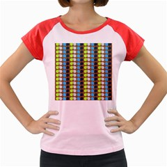 Colorful Leaf Pattern Women s Cap Sleeve T-Shirt