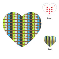 Colorful Leaf Pattern Playing Cards (Heart)