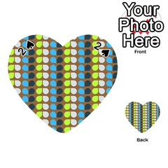 Colorful Leaf Pattern Playing Cards 54 (Heart)