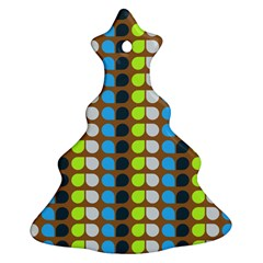 Colorful Leaf Pattern Christmas Tree Ornament (2 Sides)