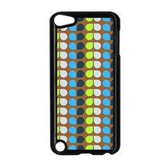 Colorful Leaf Pattern Apple Ipod Touch 5 Case (black)