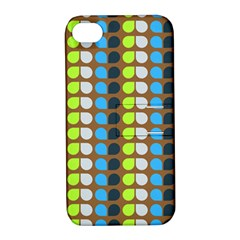 Colorful Leaf Pattern Apple Iphone 4/4s Hardshell Case With Stand