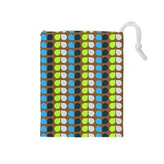 Colorful Leaf Pattern Drawstring Pouches (medium)