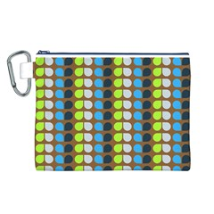 Colorful Leaf Pattern Canvas Cosmetic Bag (L)