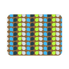 Colorful Leaf Pattern Double Sided Flano Blanket (Mini)