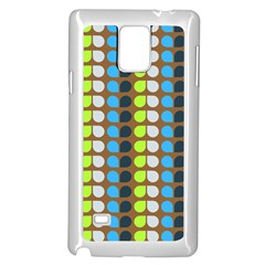 Colorful Leaf Pattern Samsung Galaxy Note 4 Case (White)