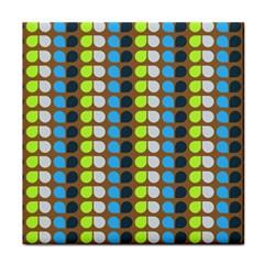 Colorful Leaf Pattern Tile Coasters