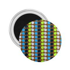 Colorful Leaf Pattern 2 25  Magnets