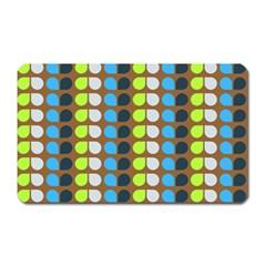 Colorful Leaf Pattern Magnet (rectangular)
