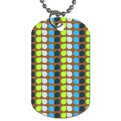 Colorful Leaf Pattern Dog Tag (two Sides)