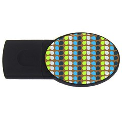 Colorful Leaf Pattern Usb Flash Drive Oval (4 Gb)