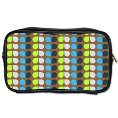 Colorful Leaf Pattern Toiletries Bags
