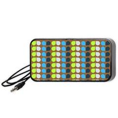 Colorful Leaf Pattern Portable Speaker (Black)