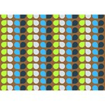 Colorful Leaf Pattern Ribbon 3D Greeting Card (7x5)  Front