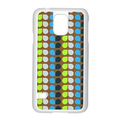 Colorful Leaf Pattern Samsung Galaxy S5 Case (white)