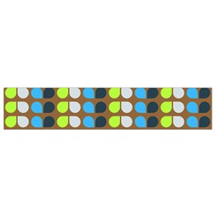Colorful Leaf Pattern Flano Scarf (small)