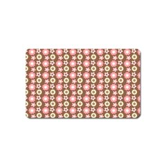 Cute Floral Pattern Magnet (name Card)