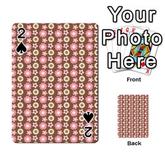Cute Floral Pattern Playing Cards 54 Designs