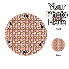 Cute Floral Pattern Playing Cards 54 (Round)