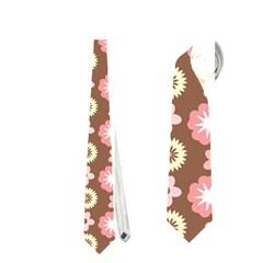 Cute Floral Pattern Neckties (One Side)