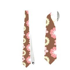 Cute Floral Pattern Neckties (Two Side)
