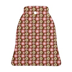 Cute Floral Pattern Bell Ornament (2 Sides)