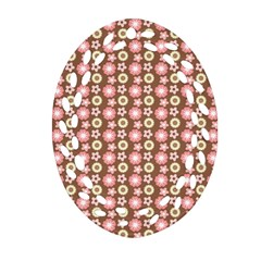 Cute Floral Pattern Ornament (Oval Filigree)